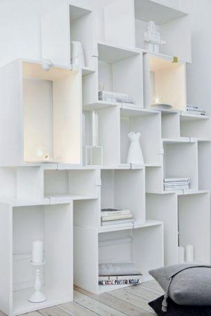 Muuto, stacked shelf system by Julien de Smith http://www.muuto.com/stackedconfigurator/
