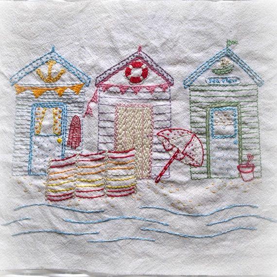 Beach Hut Machine Embroidery Design: Beside The Seaside By Lilipopo