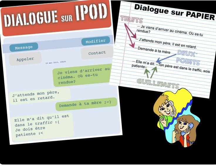 Dialogue sur un IPOD comparé à Dialogue sur Papier