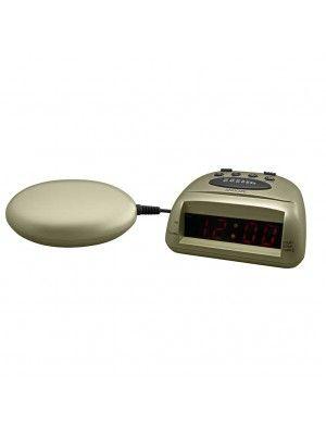 Global 360 Champagne Vibrating Alarm Clock