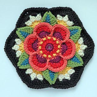 knit & crochet design: Frida's Flowers - Block Six