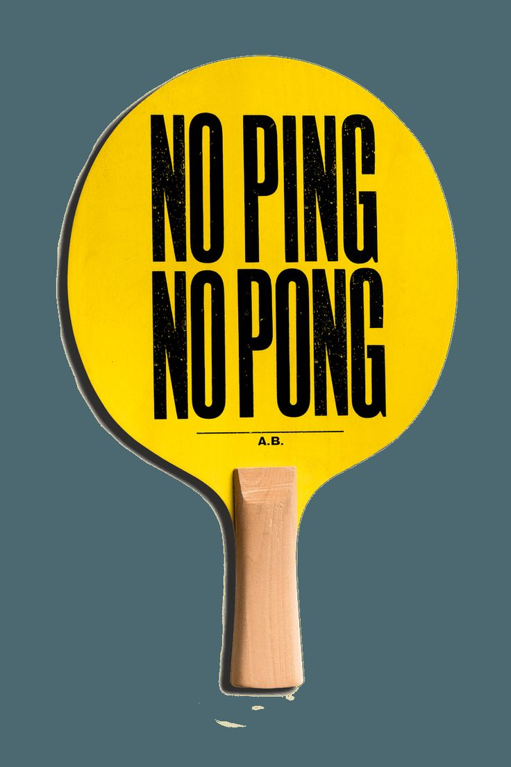 Anthony Burrill - The Art of Ping Pong. Geveild voor BBC Children in need