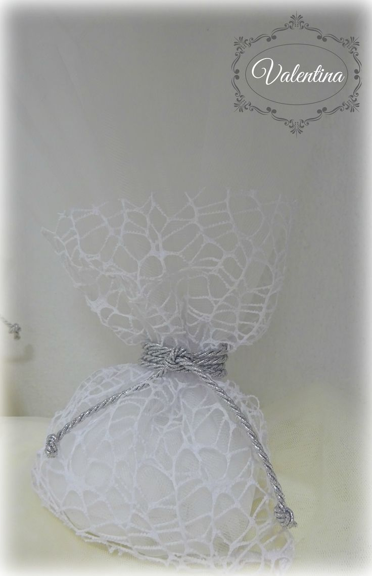 Μπουγκί Δείκτη-Λευκό με ασημένιο κορδόνι στο δέσιμο και Τούλι Λευκό!!!