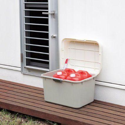 Amazon.co.jp: スペースボックス620 灯油ポリタンク 2個付 H-620-2 キャスター付きボックスで移動がラクラク!: ホーム&キッチン