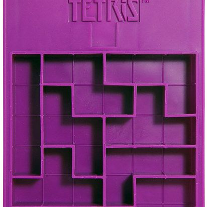 Try to play Tetris in your drink with Tetris-shaped ice.