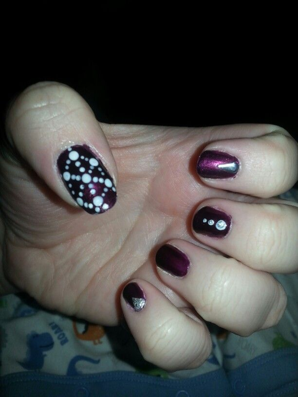 Nail design . Puple sophisticated look.