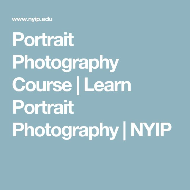 Portrait Photography Course | Learn Portrait Photography | NYIP