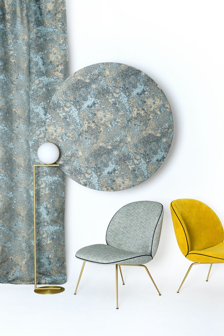 GUBI // Beelt lounge chairs in fabric from LeLievre