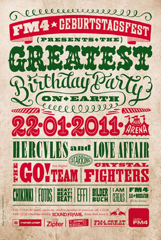 Geburtstagsfest Typography By Typejockeys 20 Magnificent Examples Of PosterRetro