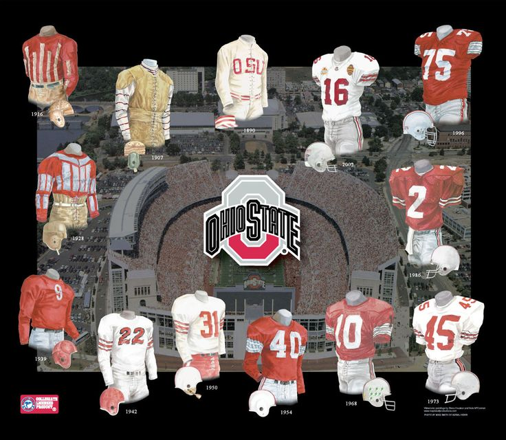 Ohio State Buckeyes.: The ohio state new and old uniform.