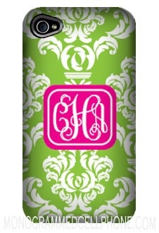 Cell phone case: Cell Phones Cases, Iphone Cases, Monograms Iphone, Pink Monograms, Cell Phone Cases, Cell Cases, Damasks Phones, Preppy Phones Cases, Preppy Damasks