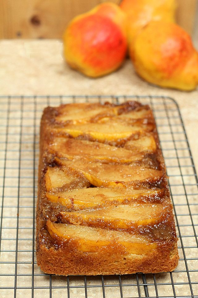 Upside Down Pear Crunch Coffee Cake for #TwelveLoaves