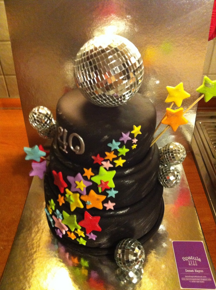 Disco Cake Birthday Cake Pinterest Cakes Cake
