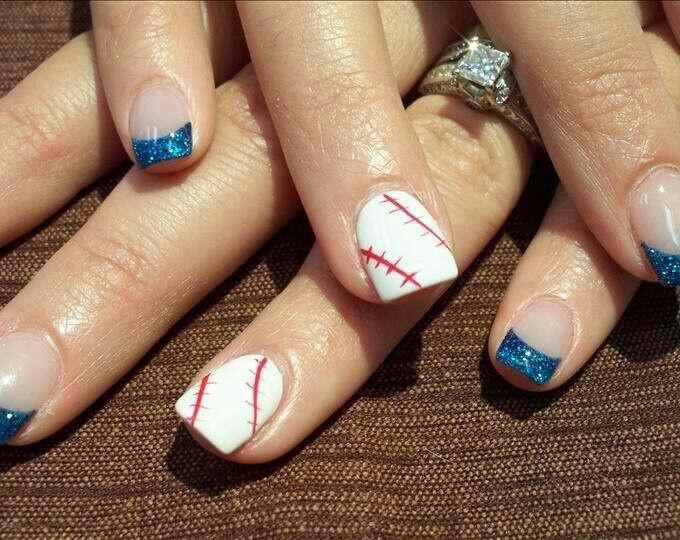 Baseball - 146 Best Nail Art Images On Pinterest Fingernail Designs, Gel