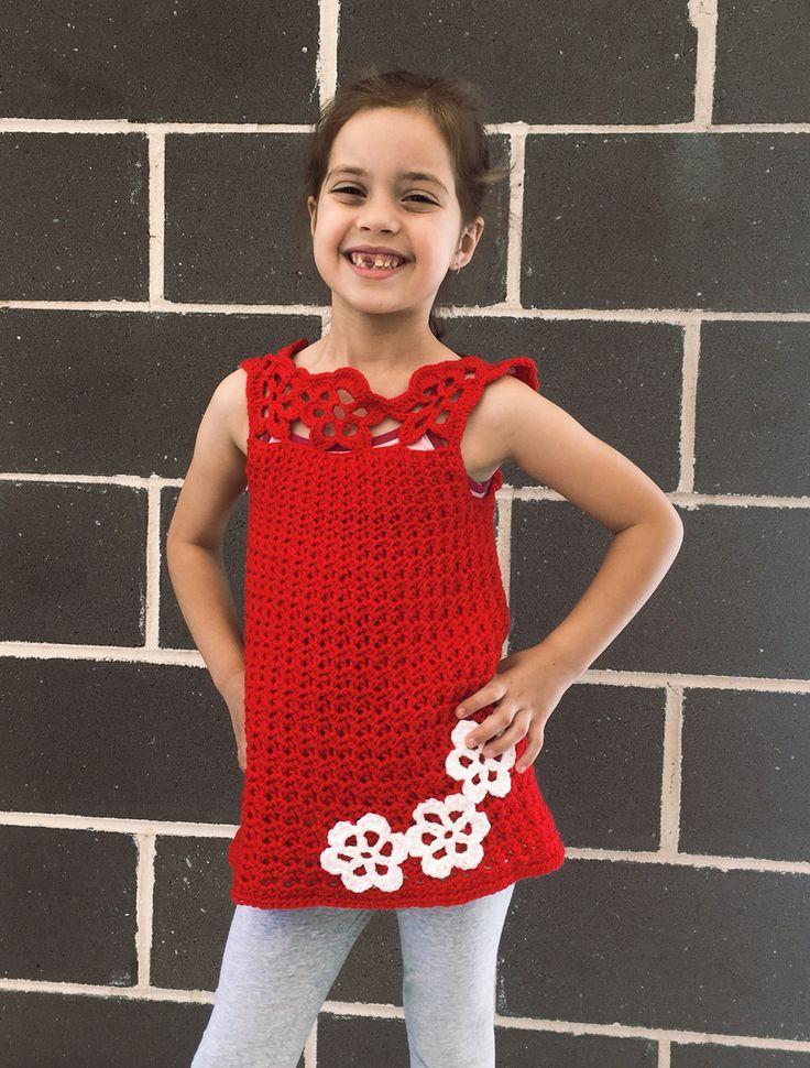Crochet Yorke flower top for sale at www.ks-handmade.com available in sizes 4, 6, 8, & 10