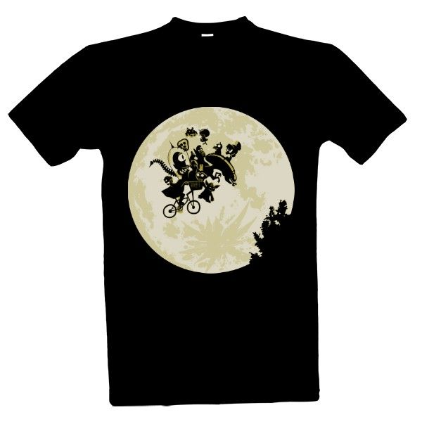 Tričko s potiskem moon & monsters