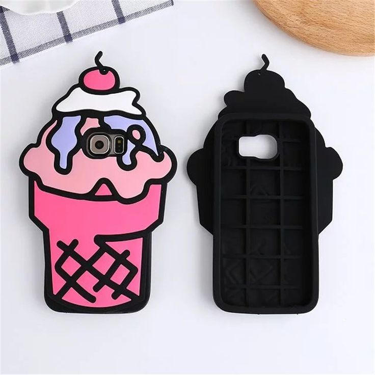 For Samsung Galaxy S6 S7 Edge Fruit Cherry Ice Cream Cone Phone Cases 3D Soft Silicone Back Case Cover For Samsung S7 edge  C562
