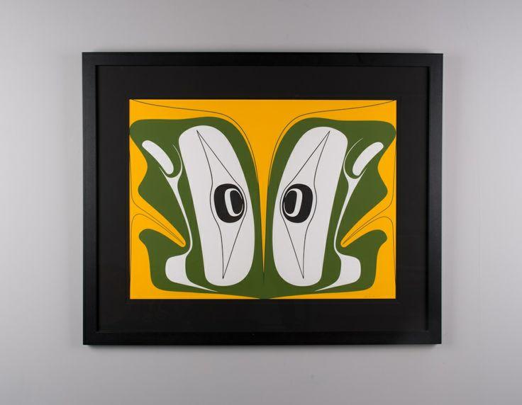 """Split U"" serigraph print by Haida artist Robert Davidson"
