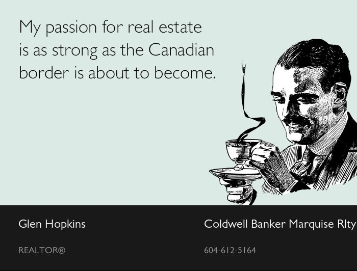 I couldn't resist! #movetocanada #whiterockrealtor