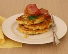 Bacon And Corn Fritters With Coriander Recipe - 20 minute dinners