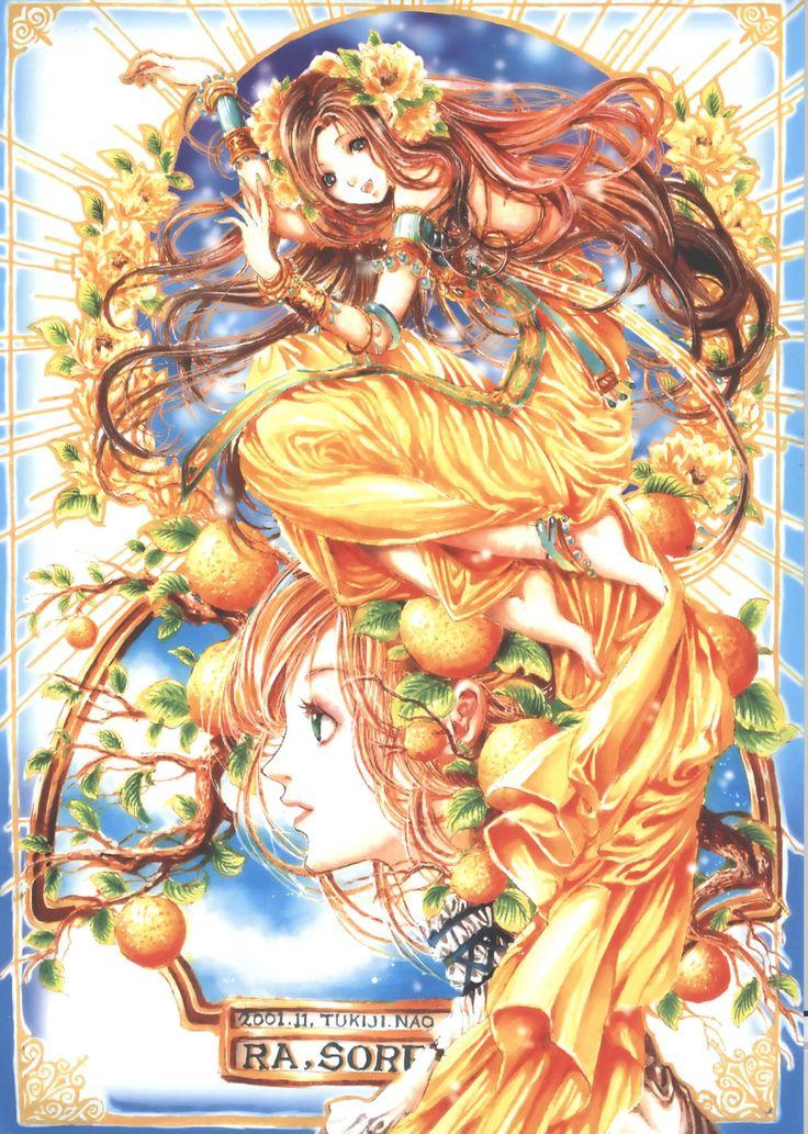 Orange Cutie Anime Girl Wallpaper by Tukiji Nao