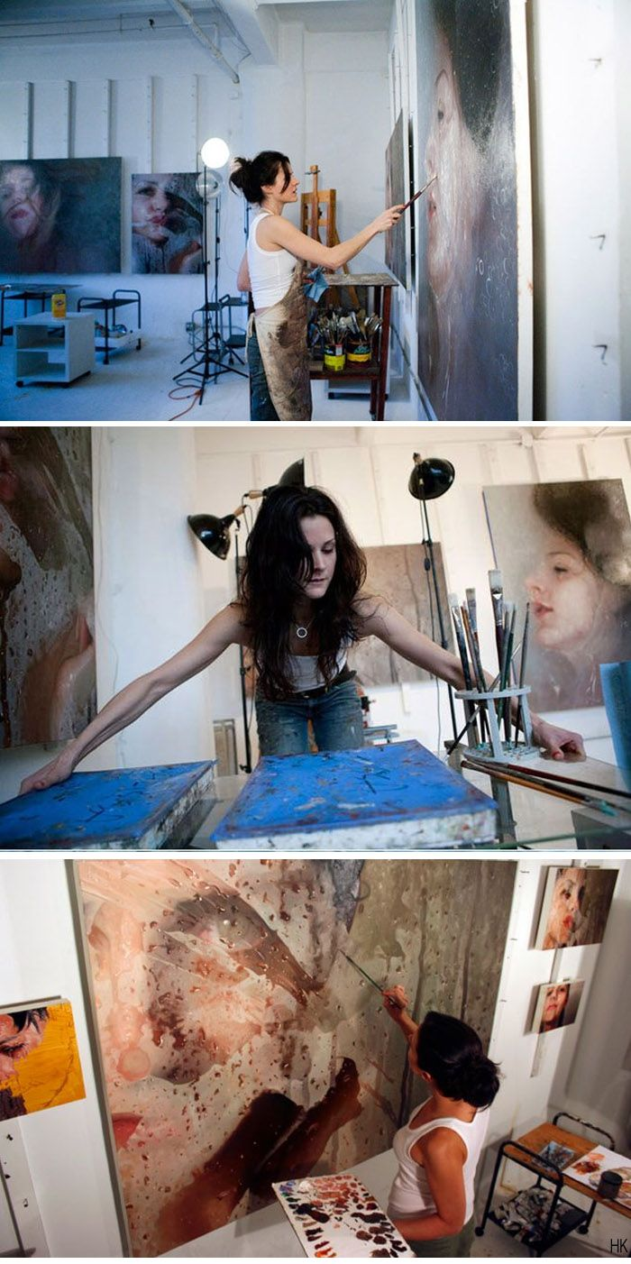Alyssa Monks in her studio BTW, check out this FREE AWESOME ART APP for mobile: http://artcaffeine.imobileappsys.com/ Get Inspired!!!