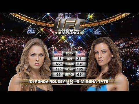 MMA UFC 207 Free Fight: Ronda Rousey vs Miesha Tate