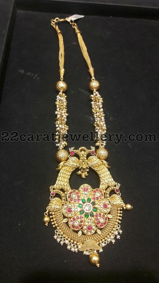 Antique Necklace with Small Pearls