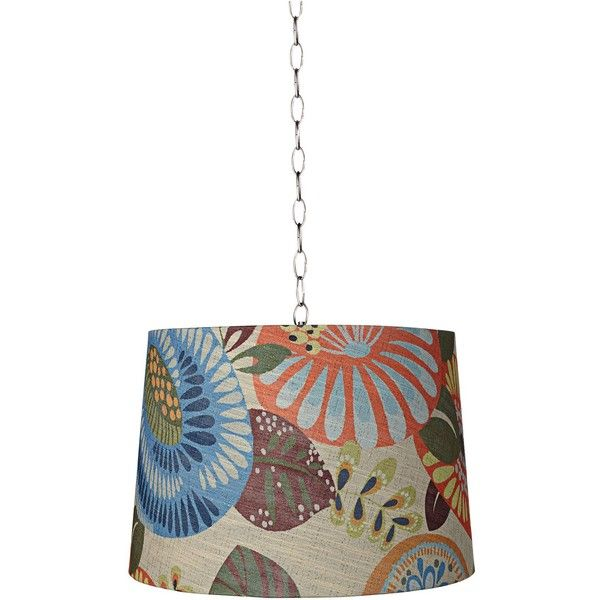 "Universal Lighting and Decor Tropic Drum 16"" Wide Brushed Steel Shaded... ($70) ❤ liked on Polyvore featuring home, lighting, ceiling lights, chandeliers, hanging chain lamps, drum chandelier, tropical ceiling lights, drum pendant lighting and chain chandelier"