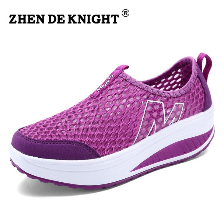 2016 Youth simple fashion casual shoes.summer outdoor purple wedge swing shoes women Lady breathable cool trainers new color