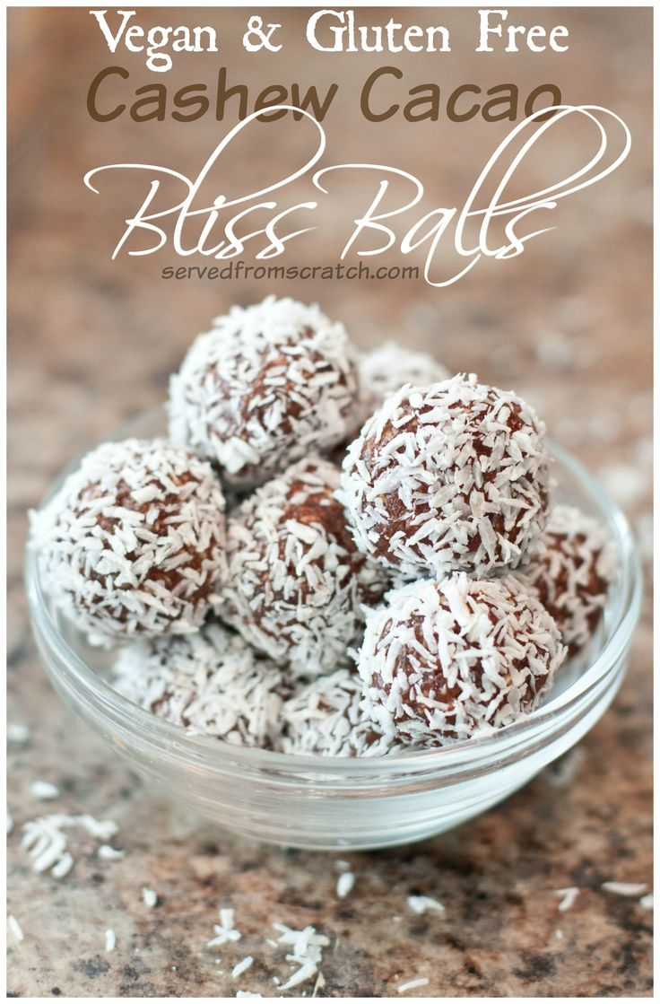 Cashew and cacao bliss balls