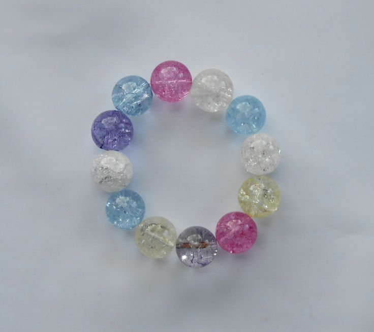 Cracked crystals bracelet by Excessjewellery on Etsy