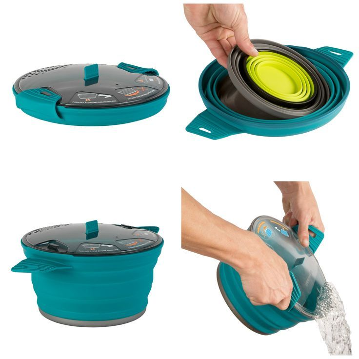 Camping, backpacking, or day trips to the mountain are popular family destinations, and bringing your own food is not only necessary but economical. The pots and pans needed to prepare the food do not save you much space, though. The innovative #new cooking gear from Sea to Summit will solve this problem with their award winning X-Pot.