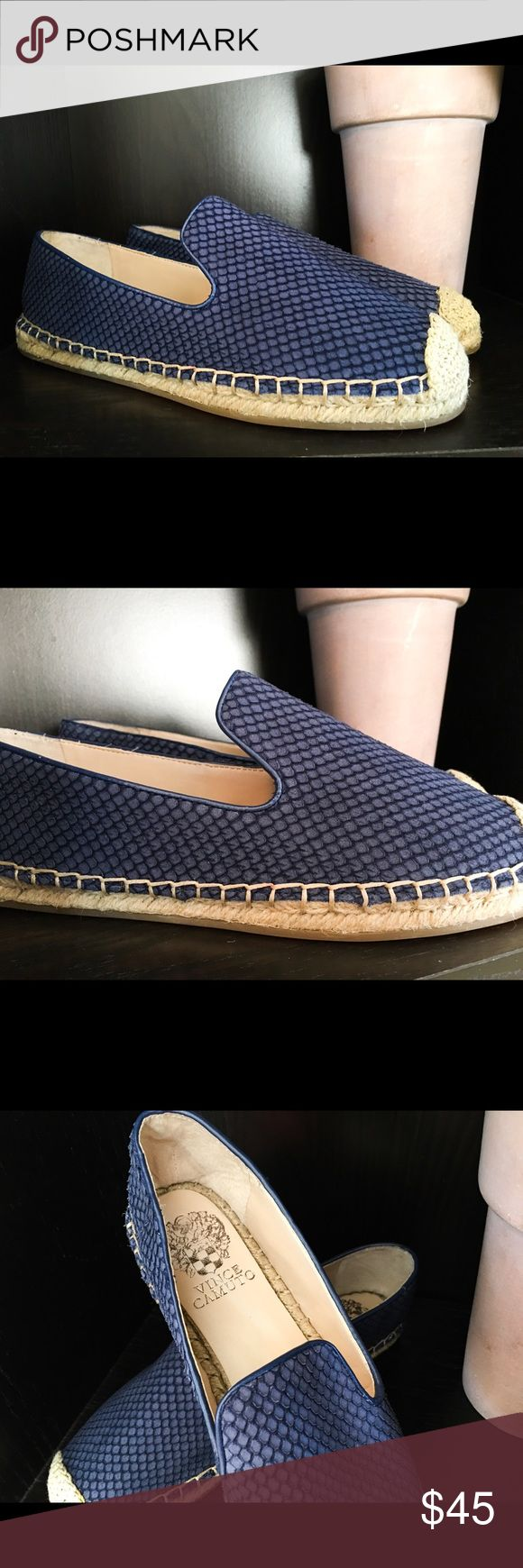 🌷BDAY SALE🌷On Trend Vince Camuto Espadrilles NWOB Blue Vince Camuto Espadrilles that are a perfect fashion statement. These would look excellent with white leggings. Leather padding and interior. Make these your go-to shoes for shopping, leaving the ballet barre, or for the family outing to the park. Enjoy! Vince Camuto Shoes Espadrilles