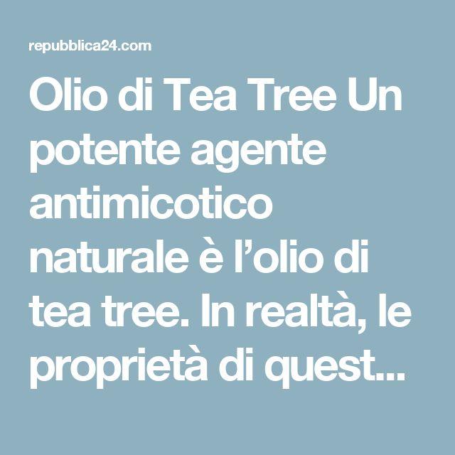 Olio di Tea Tree Un potente agente antimicotico naturale è l'olio di tea tree. In realtà, le proprietà di questo olio permettono di gestire tutti i tipi di problemi causati da funghi, forfora, tigna e prurito. Poiché le infezioni fungine dell'unghia del piede e altre malattie della pelle che comportano la moltiplicazione di funghi tendono a ripetersi, è una buona idea avere sempre a disposizione in casa una bottiglietta di olio di tea tree. Dato che l'olio di tea tree è molto concentrato e…