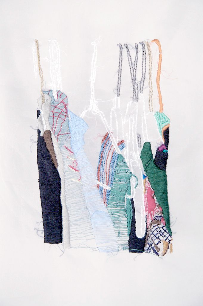 closet studies, contemporary embroidery, embroidery, fine art, san franacisco artist, textile art