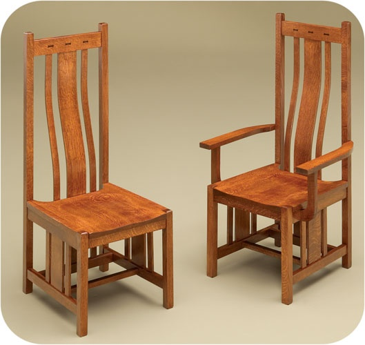 Amish Dining Chairs Bowtie Mission Dining Chair Wooden