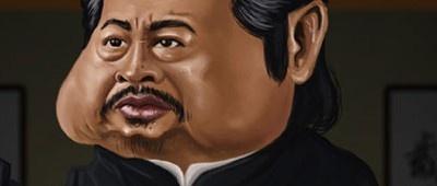 Caricatura de Sammo Hung by @Natalia Benavides
