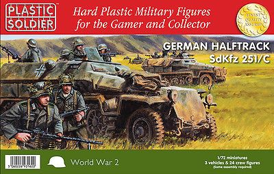 Plastic soldier #company #ww2v20003 1/72nd german sdkfz 251/c #halftrack,  View more on the LINK: 	http://www.zeppy.io/product/gb/2/302167904481/