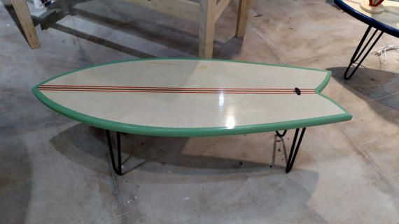 Surfboard Coffee Table or End Table Fish