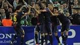 Jordi Alba, FC Barcelona.   FC Barcelona 2-1 Celtic. 23.10.12.