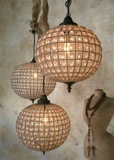 Beautiful globe chandelier