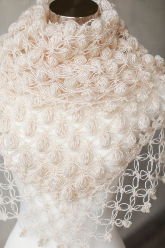 Wedding Shawl Shrug Cream Shawl Bridal Bolero Bridal Wrap