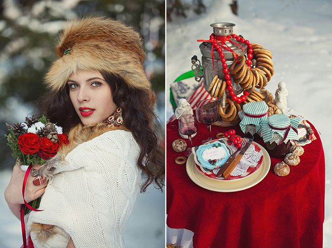 Russian Winter Wedding Inspiration, i love to see how different cultures celebrate!
