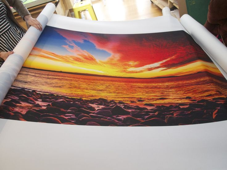 We can fabric print any photograph for artwork - check out this bedhead we made!