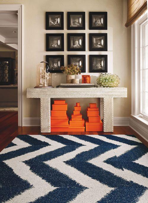 Chevron Rug: Chevron Patterns, Carpets Tile, Orange, Colors Combos, Hermes, Home Ideas, Blue, Colors Wheels, Chevron Rugs