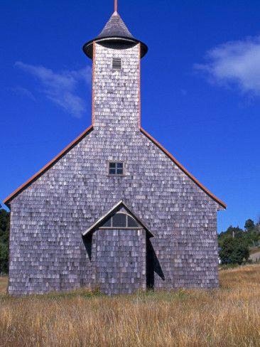 Churches of Chiloe, Chile. A UNESCO World Heritage site.