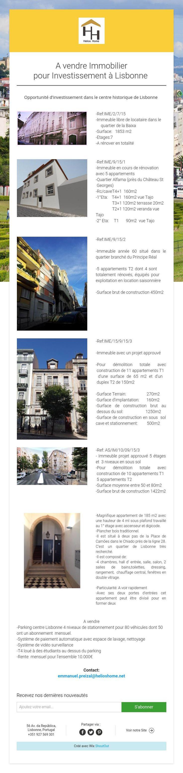 A vendre Immobilier pour Investissement àLisbonne