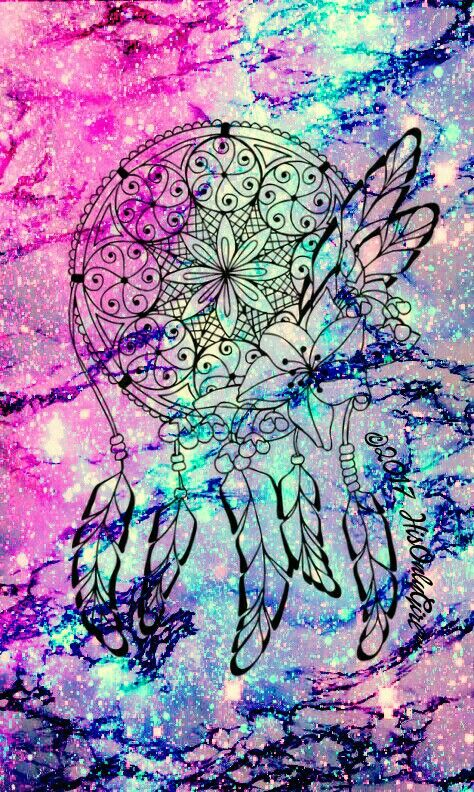 Sweet dreamcatcher galaxy iPhone/Android wallpaper I created for the app CocoPPa.