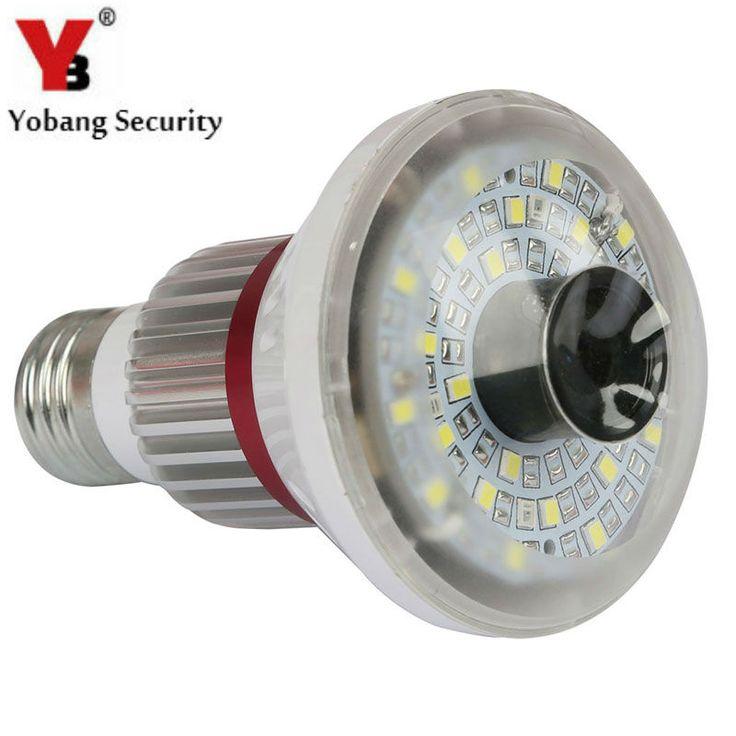 YobangSecurity Bulb Light Wireless WiFi AP P2P IP Network DVR CCTV Security Camera Nanny Surveillance Camera With 5W Led Light #Affiliate